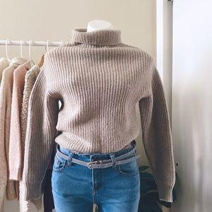 Aritzia WILFRED turtleneck knit WOOL sweater